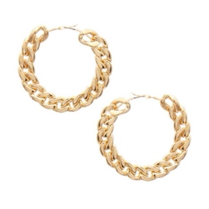a3676f780 Gold Chain hoops earrings from Real Divas are LARGE! for $18.00 on Square  Market