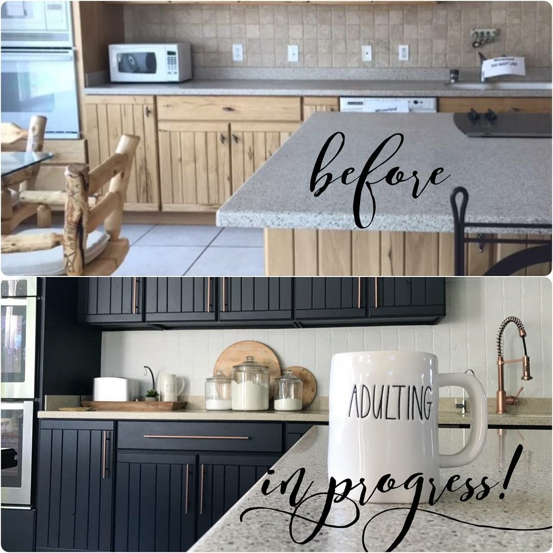 Before And After 1889 Farmhouse Cabinets And Backsplash Painted With Fusion Mineral Pai Milk Paint Kitchen Cabinets Chalk Paint Kitchen Cabinets Kitchen Redo