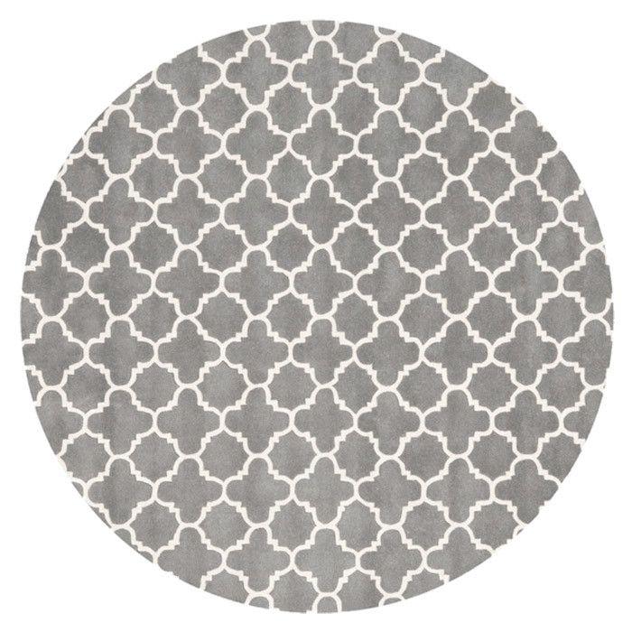 Chatham 7 Round Rug In Dark Grey Carpets Round Area