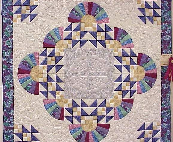 Quilt Pattern Grandmother S Fan Easy Quilting Free Easy Quilt Quilts Asian Quilts Quilt Patterns