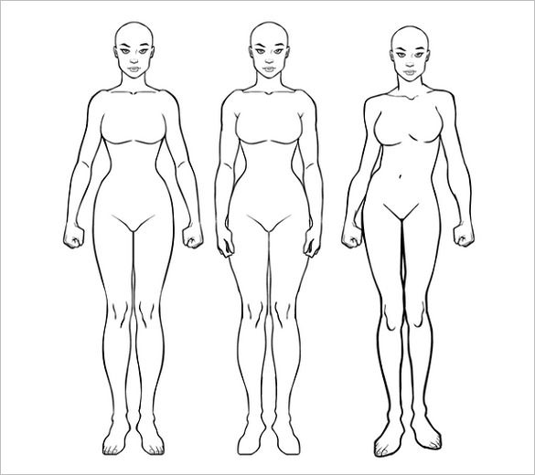 Female Body Template Delli Beriberi Co