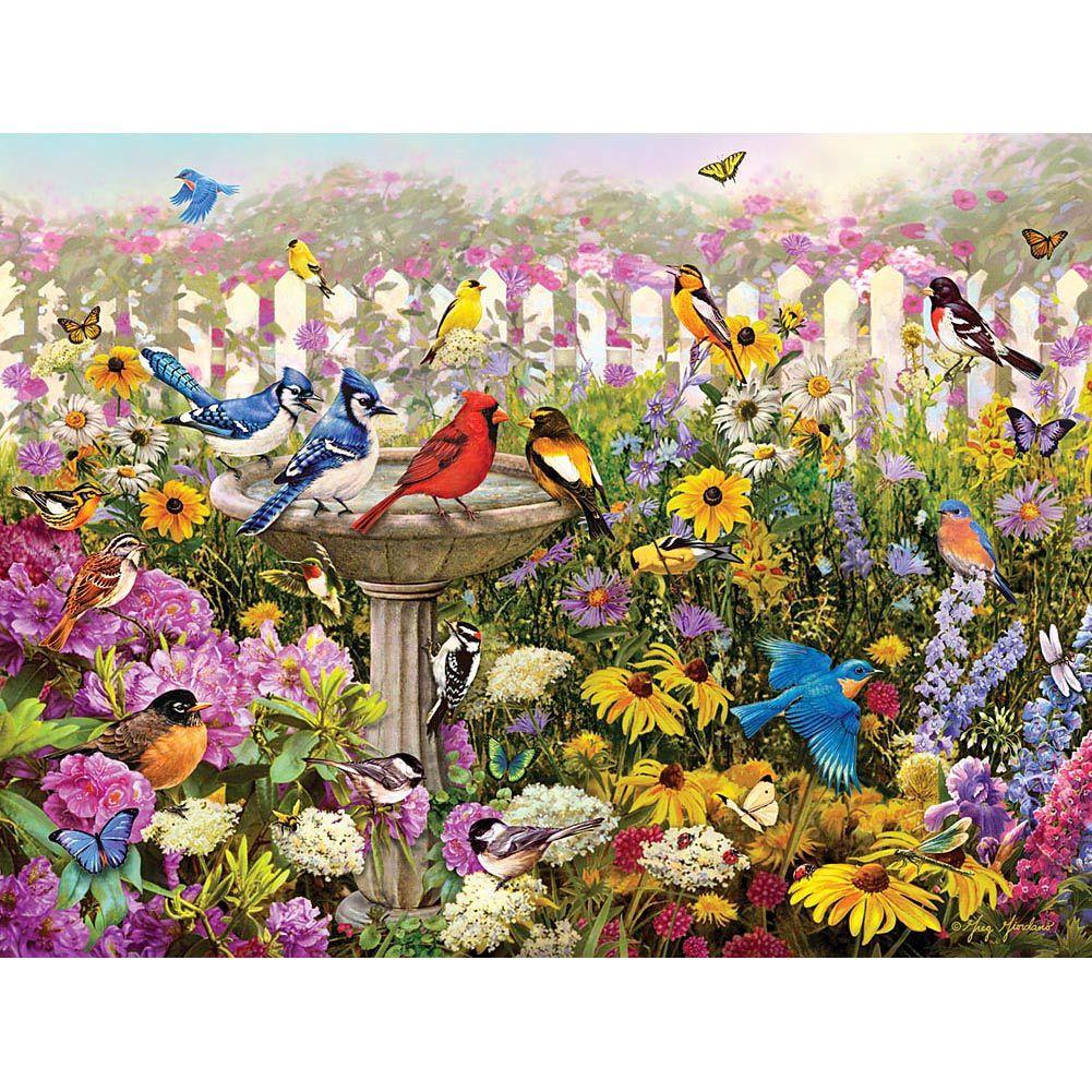 Popular Backyard Wild Birds Of N A Jigsaw Puzzle: Birds Of Summer 550 Piece Puzzle