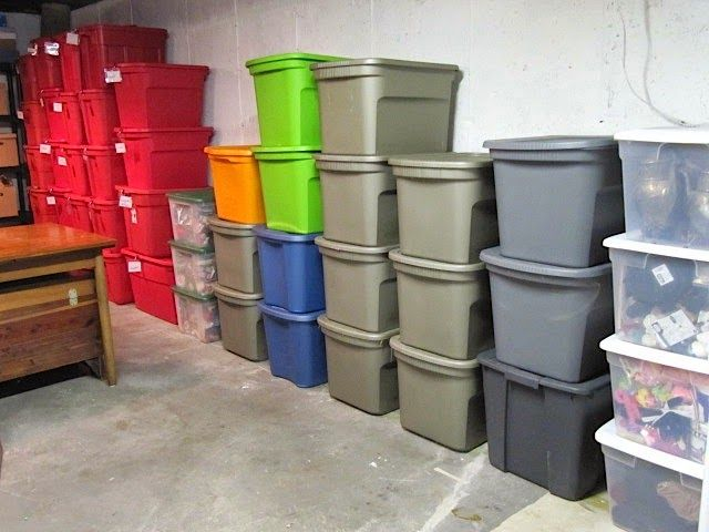 Sew Many Ways Organization Color Coded Storage Boxes Attic Storage Color Coding Attic Remodel