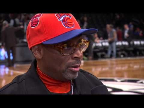 Doris Burke talks to @SpikeLee about the Knicks-Nets Rivalry. (Notice Michael Jackson P.Y.T. is playing in background) #connected!