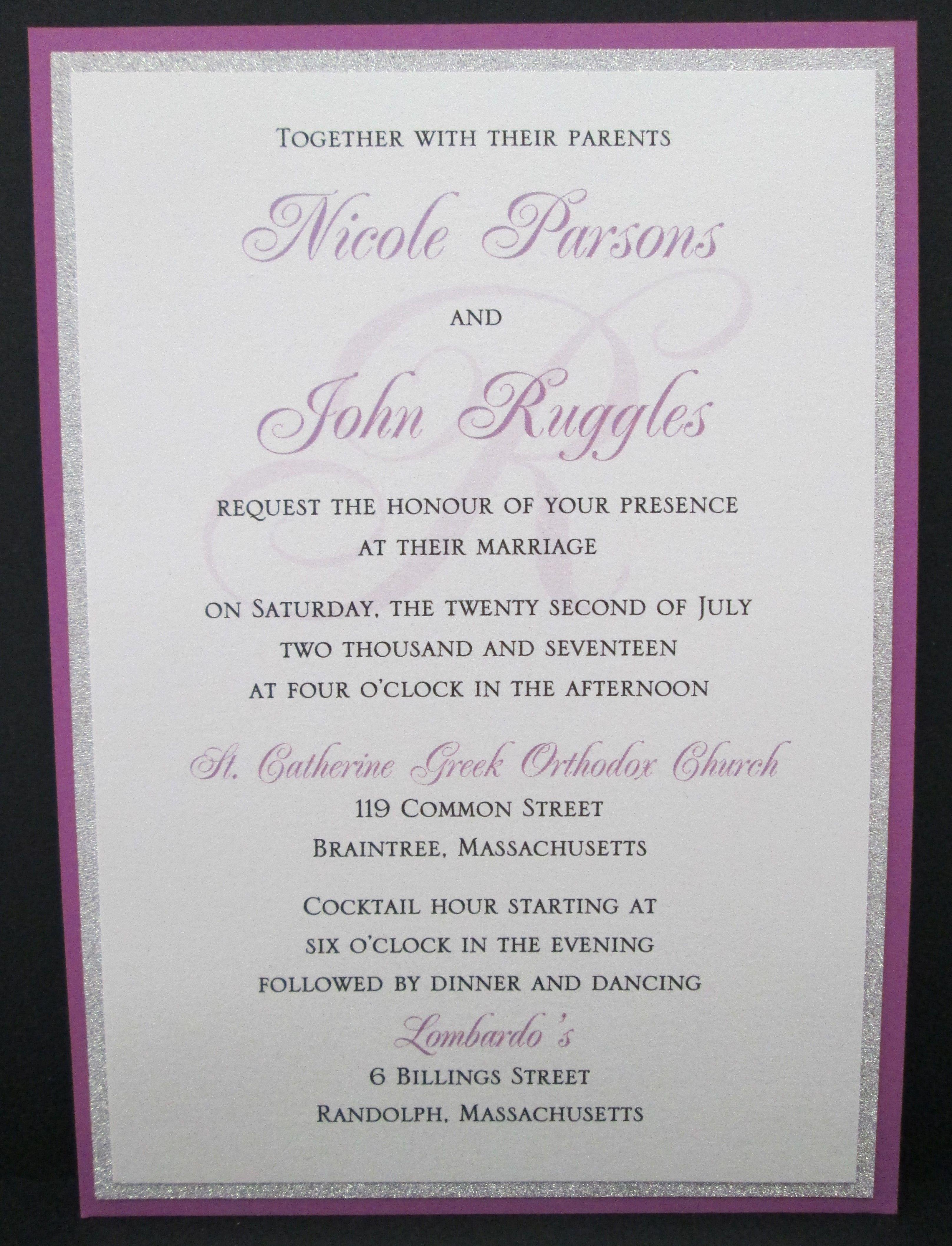 3 layer wedding invitation with silver glitter   Wedding Invitations ...