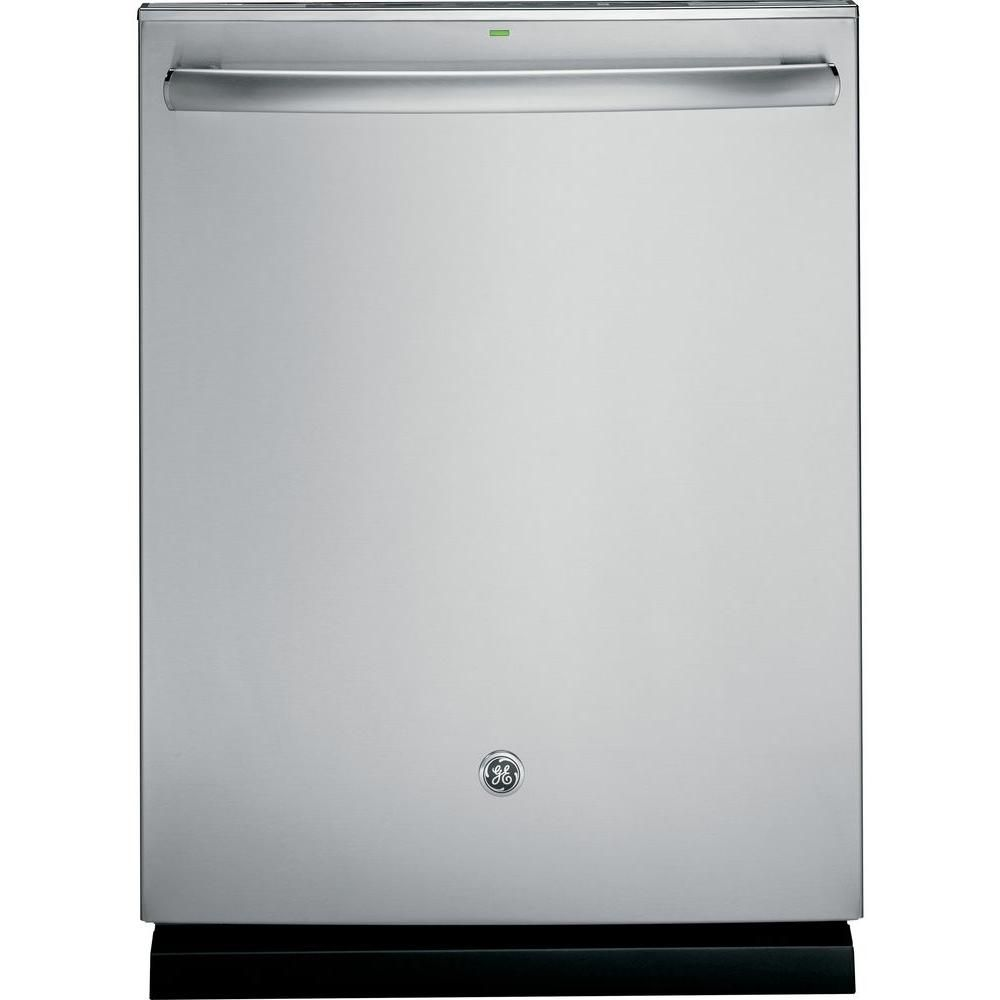 GE Top Control Dishwasher in Stainless Steel with Stainless Steel ...