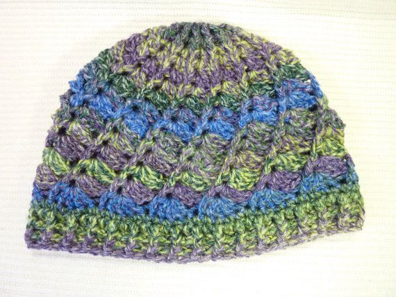Hat - Crochet spiral ladies beanie