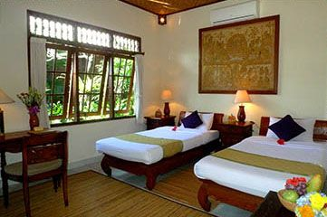 Alam Indah   Ubud, Bali Lotus: close to reception area on the same level.  Twins or double bed.  Size: 43.5sqm