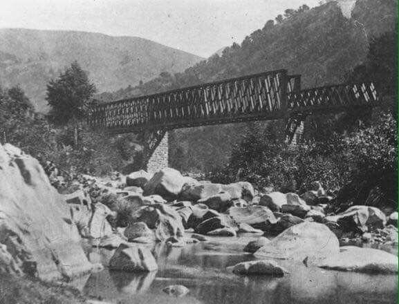 Farwell Bridge Over Alameda Creek Niles Canyon California 3299 Niles Canyon Road Union City Ca Usa 1860 1880 Railroad Bridge Canyon Road Ca History