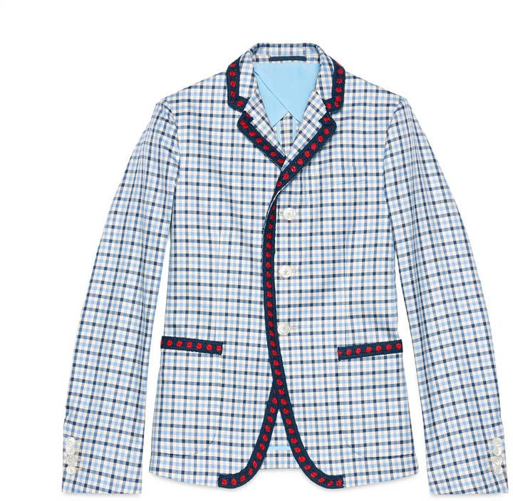 357261346 Iris check cotton twill jacket - 7112style.website - | Style | Gucci ...