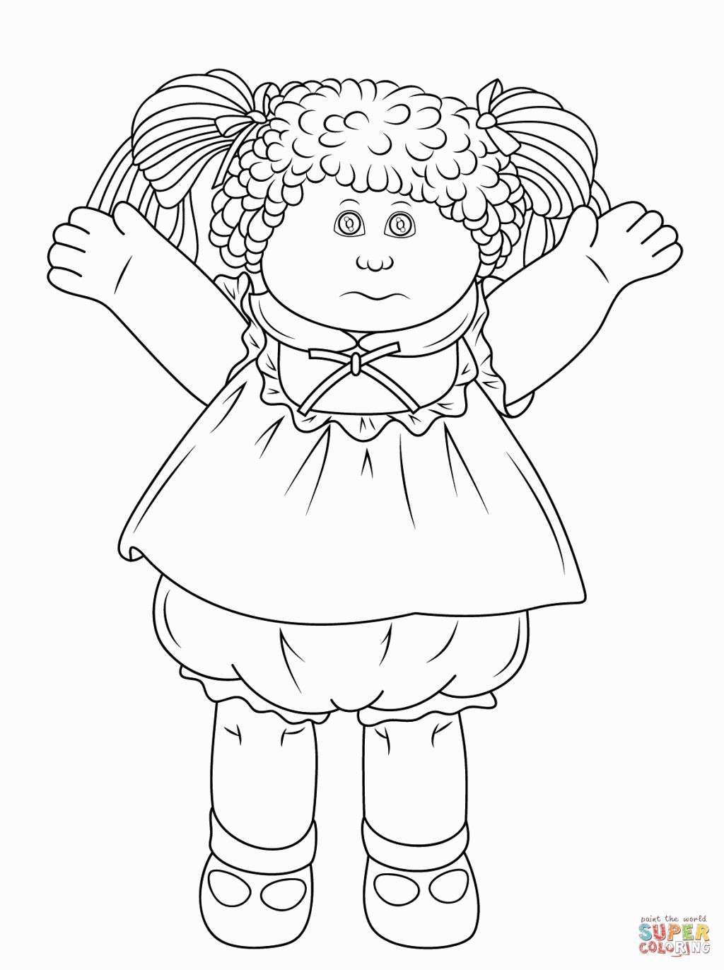 Cabbage Patch Kids Coloring Pages Cabbage Patch Color Pages