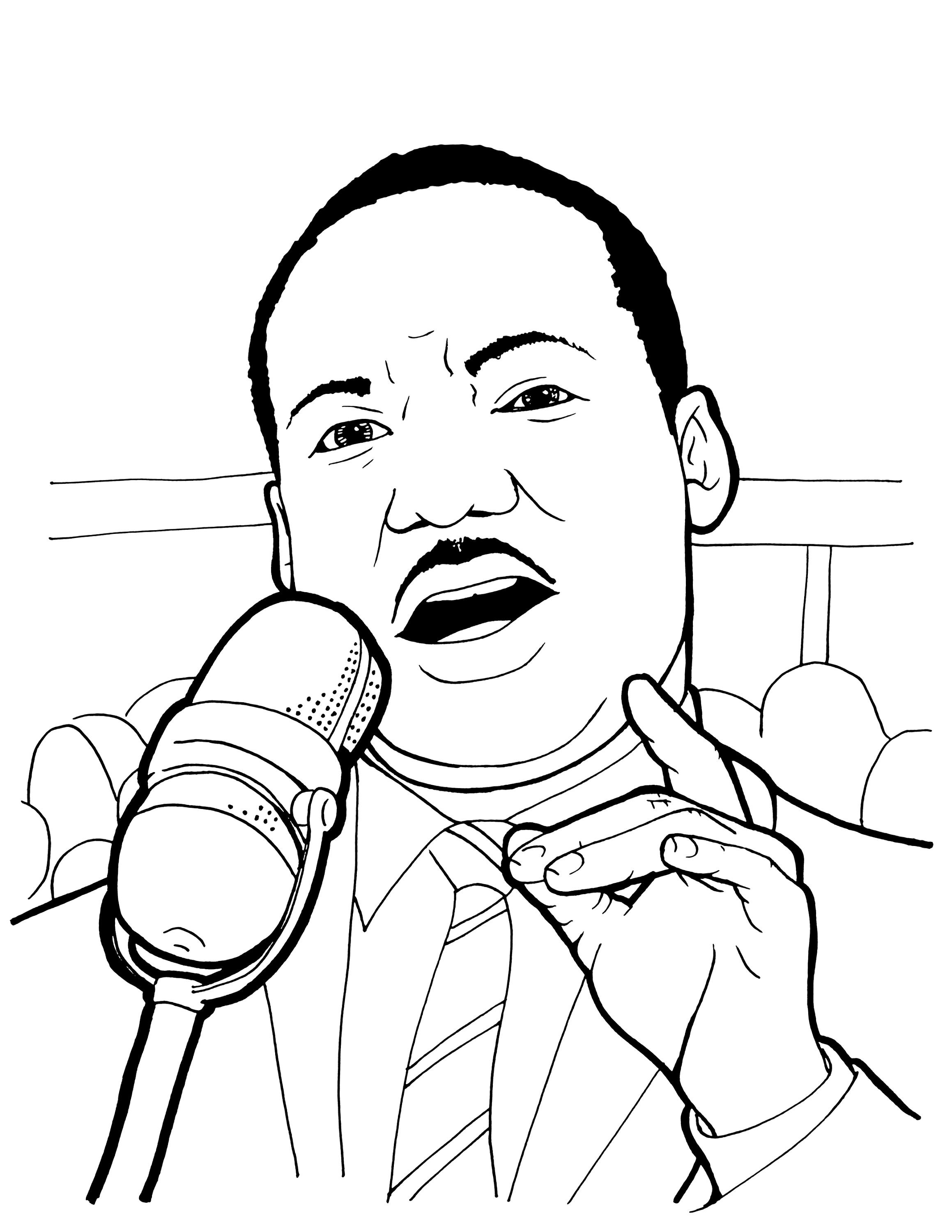 Martin Luther King Jr Coloring Page With Wallpaper Photo