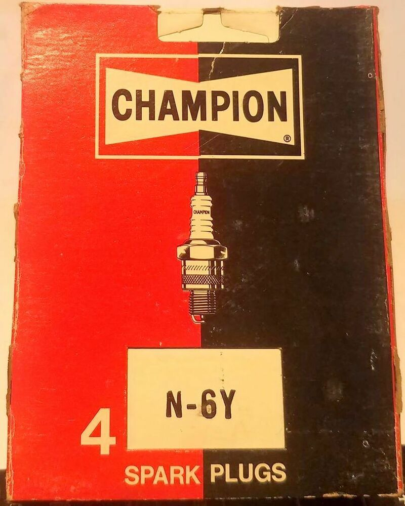 Champion N 6y Spark Plugs Set Of 4 Nos Vintage Champion Spark Plug Plugs Spark