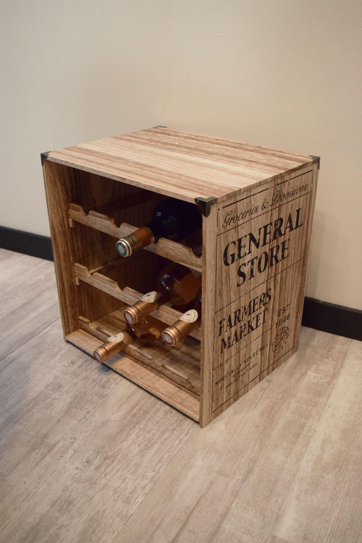 casier a bouteilles en bois decoration cuisine kalico casier a bouteille casier bouteille bois rangement bouteille de vin