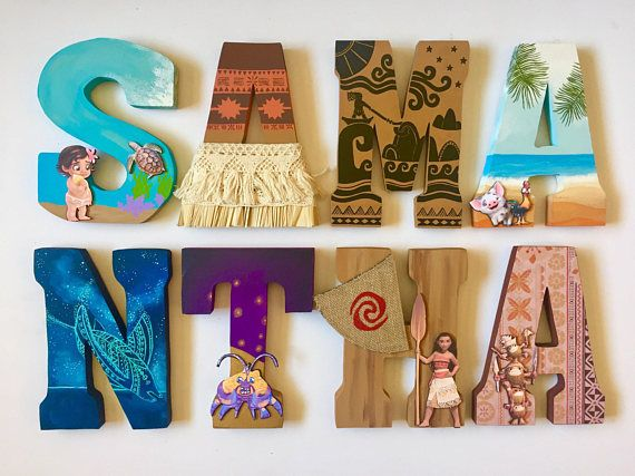 Moana theme personlized letters and name for names with MORE THAN 6 letters