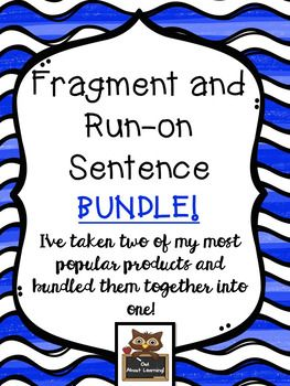 Fragment and Run-on Sentence Bundle