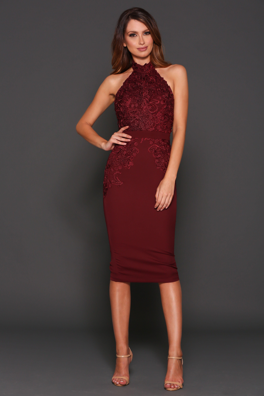 Mid length dresses for wedding guests  Elle Zeitoune  Marcela  Elle Zeitoune  Pinterest  Halter neck
