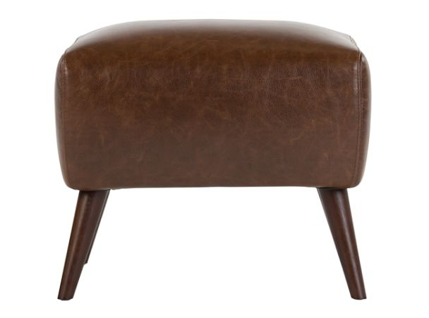 Prado Footstool Antique Cognac Leather With Images Footstool
