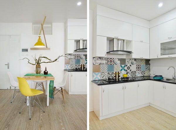 Baldosas hidr ulicas en las paredes cocinas - Baldosa hidraulica cocina ...
