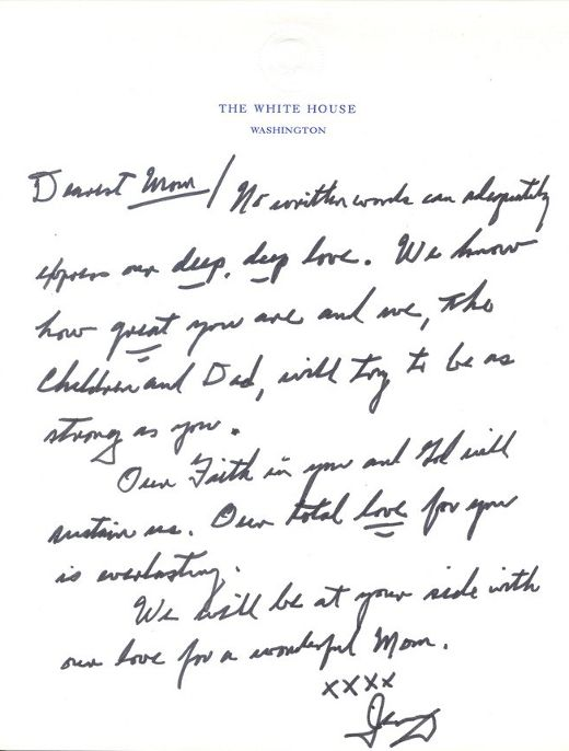 Letter to Betty Ford right after she was diagnosed w Breast Cancer - breakup letters