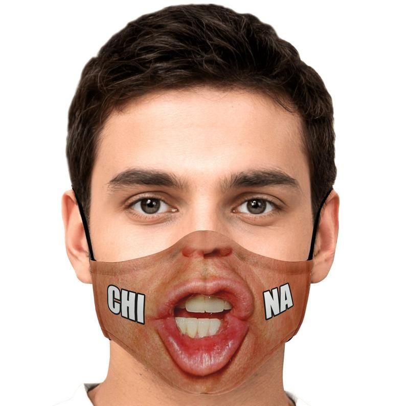 Trump China Meme Funny Face Mask Etsy Face Mask Funny Face Mask Mask