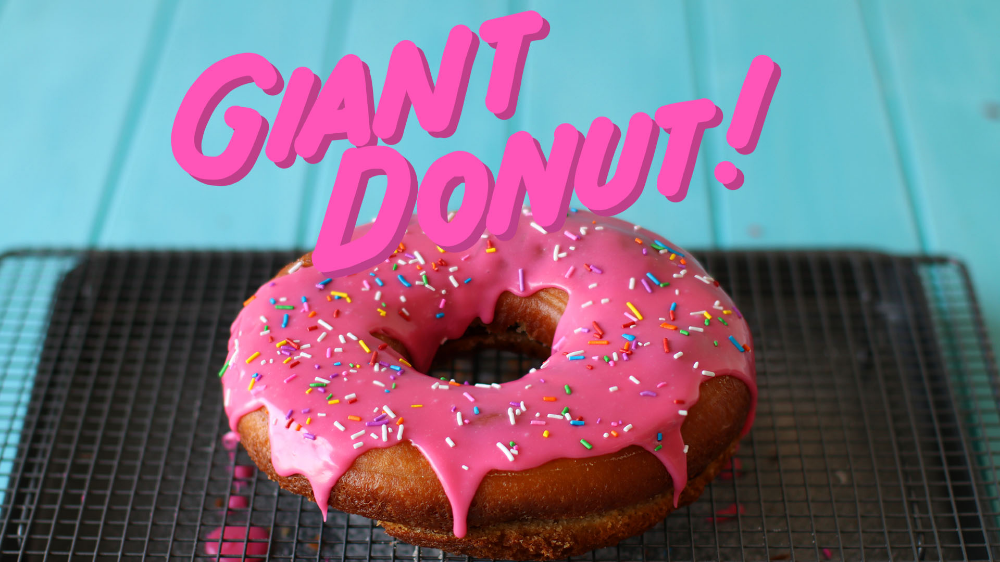 Giant Donut Recipe in 2020 Giant donut, How to make