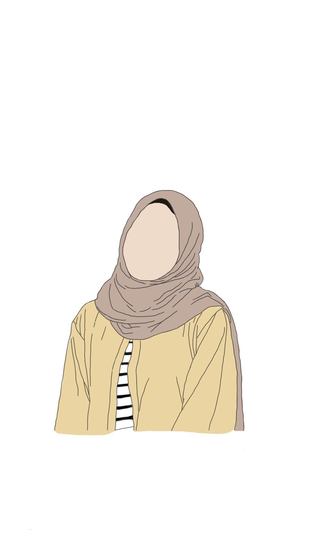 Hijab Fanart Muslimah Ilustrasi Karakter Kartun Animasi