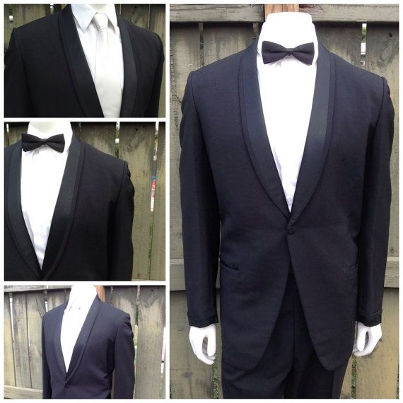 50s Style Tux Jacket / Tuxedo Jacket / Rockabilly Tux Jacket / Classic Tux