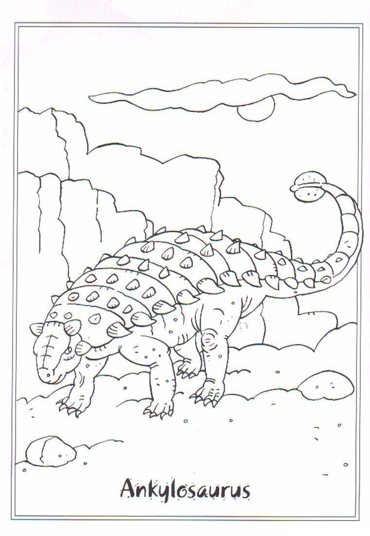 coloring page Dinosaurs 2 Ankylosaurus