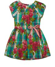 Age 2 to 8 Jade Hyderabad Print Floral Dress