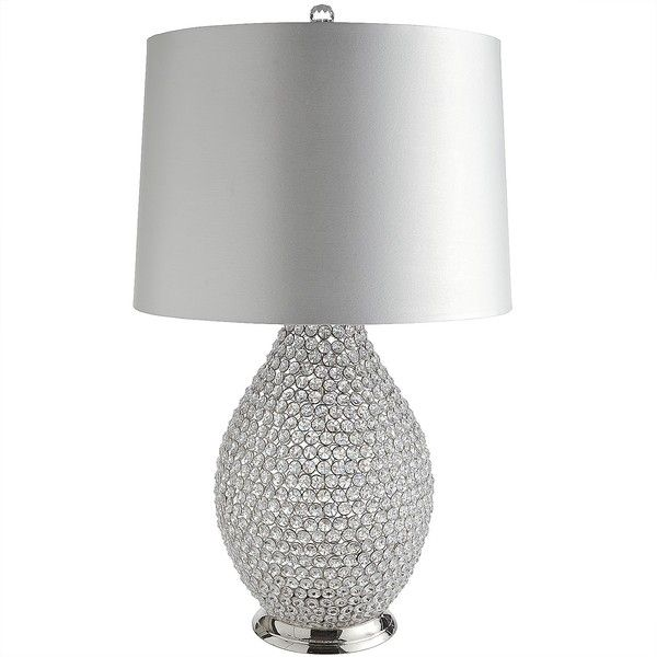 Pier 1 Imports Clear Crystal Bead Lamp 299 Liked On Polyvore Featuring Home White Table