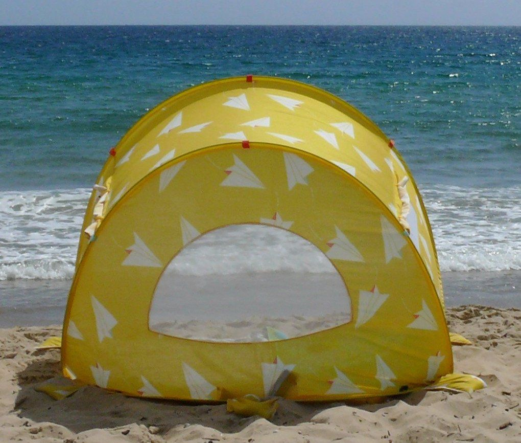 Easy beach tent pops up in seconds. Designed in Melbourne. Sun tent windows for breeze & Pop-Up Beach Tent Paper Planes - Shore and Sunshine - 2 | Home ...