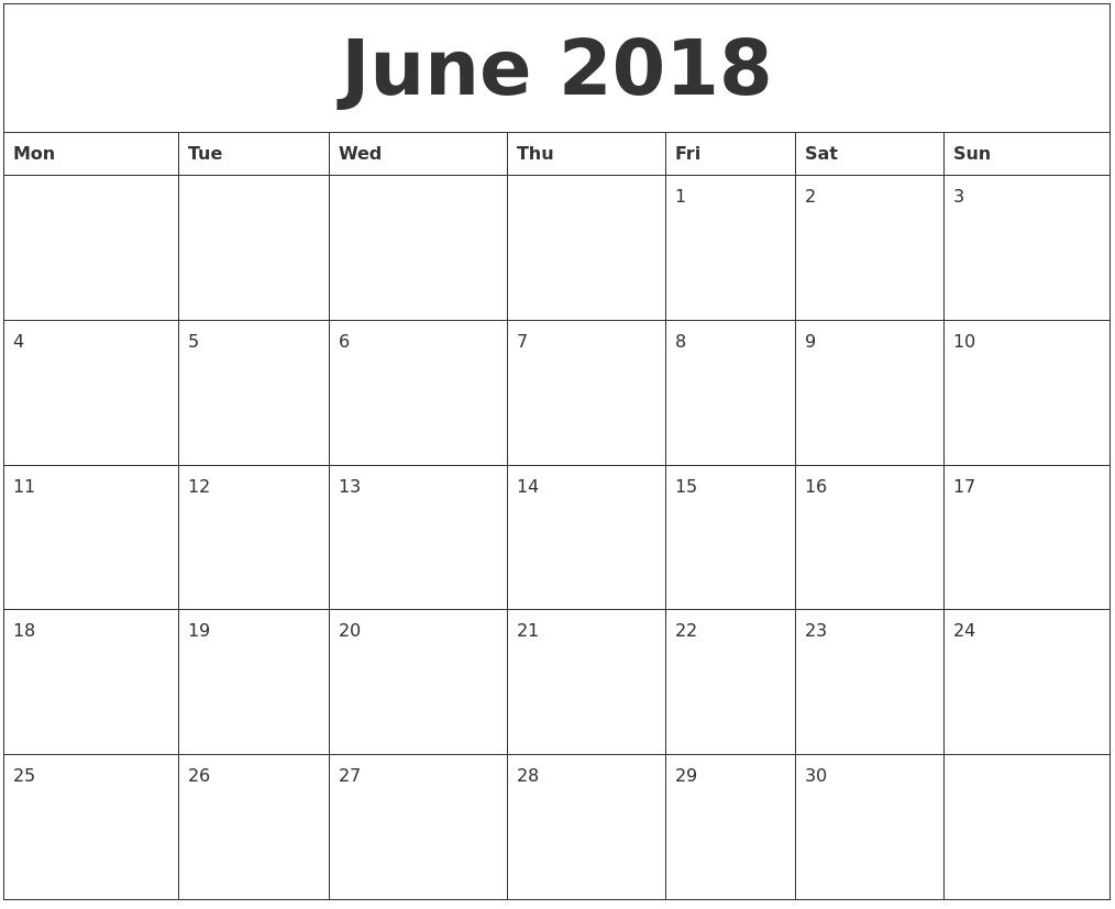 June Calendar Editable : Editable june calendar maxcalendars june and