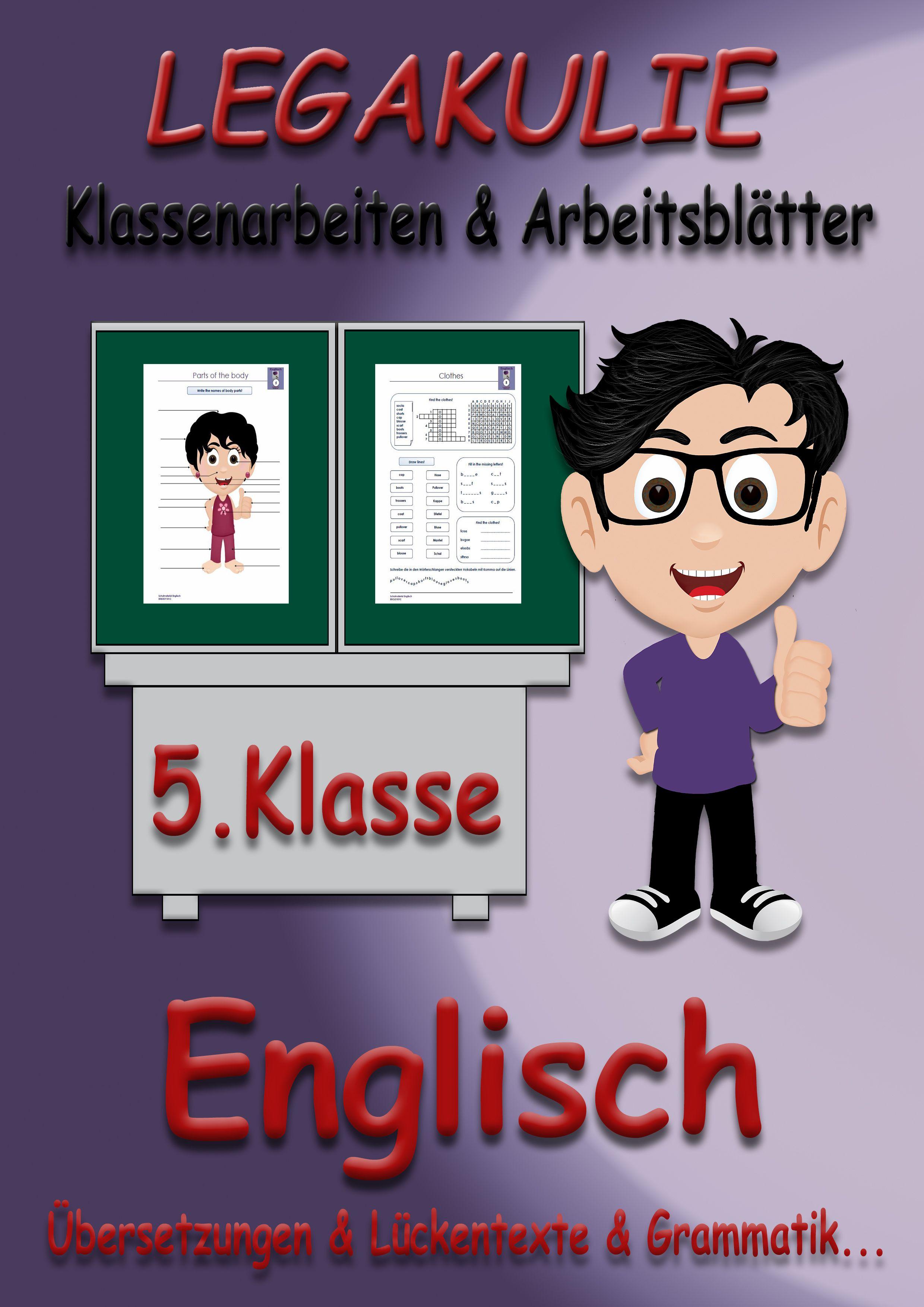 Englisch #Arbeitsblatt #Klassenarbeit #PDF Alle Übungsmaterialien ...