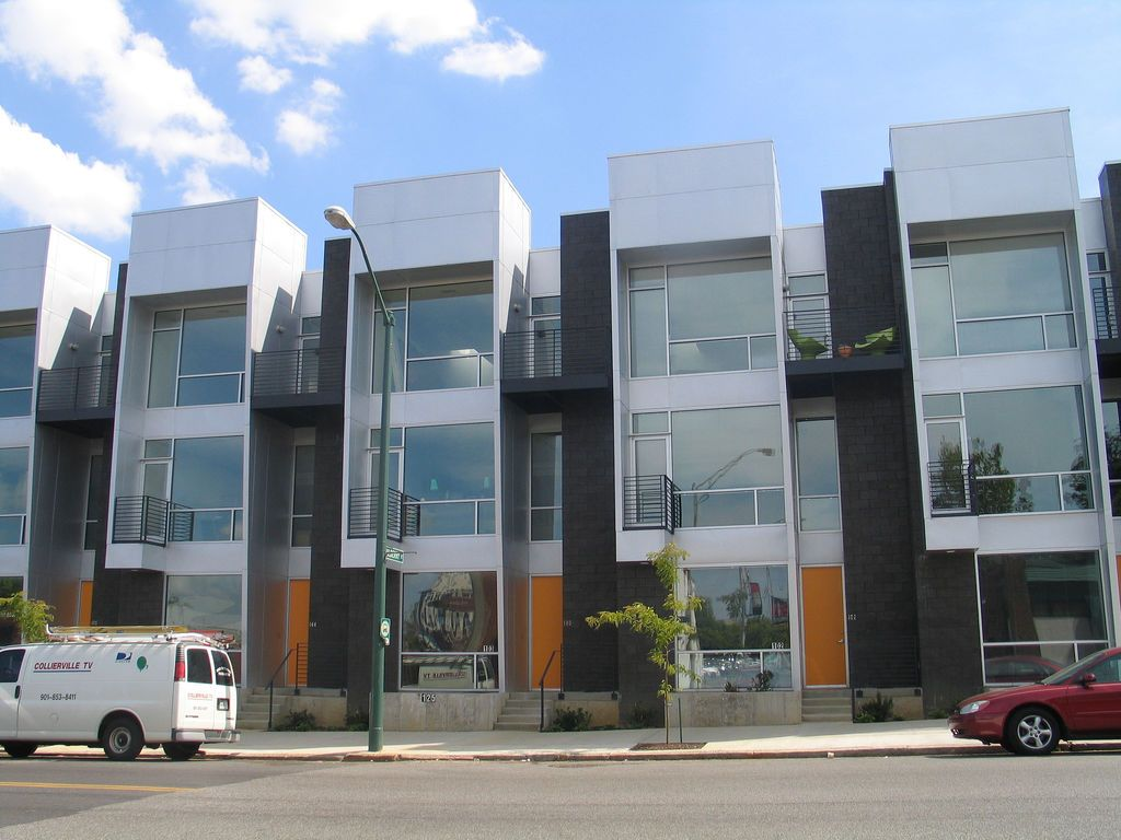 Cool Condos In Memphis Modern Townhouse Townhouse Designs Row House Design