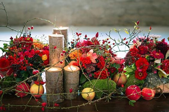 herbsthochzeit  dekoartikel  Hochzeit herbst Blumendeko