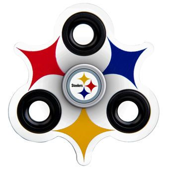 new styles f313f 21d30 Pittsburgh Steelers Three-Way Molded Logo Fidget Spinner ...