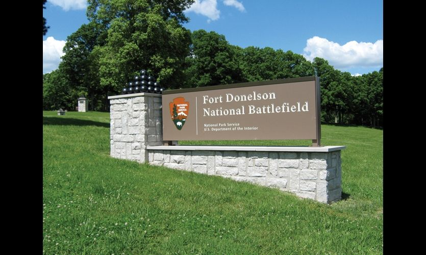 Park entry signs are guided by NPS standards, but designed