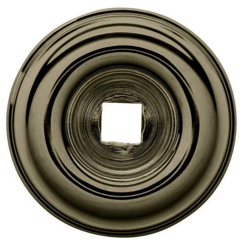 Baldwin 4902 1-1/2 Inch Diameter Cabinet Knob Back Plate Satin Brass and Black Cabinet Hardware Backplates Knob