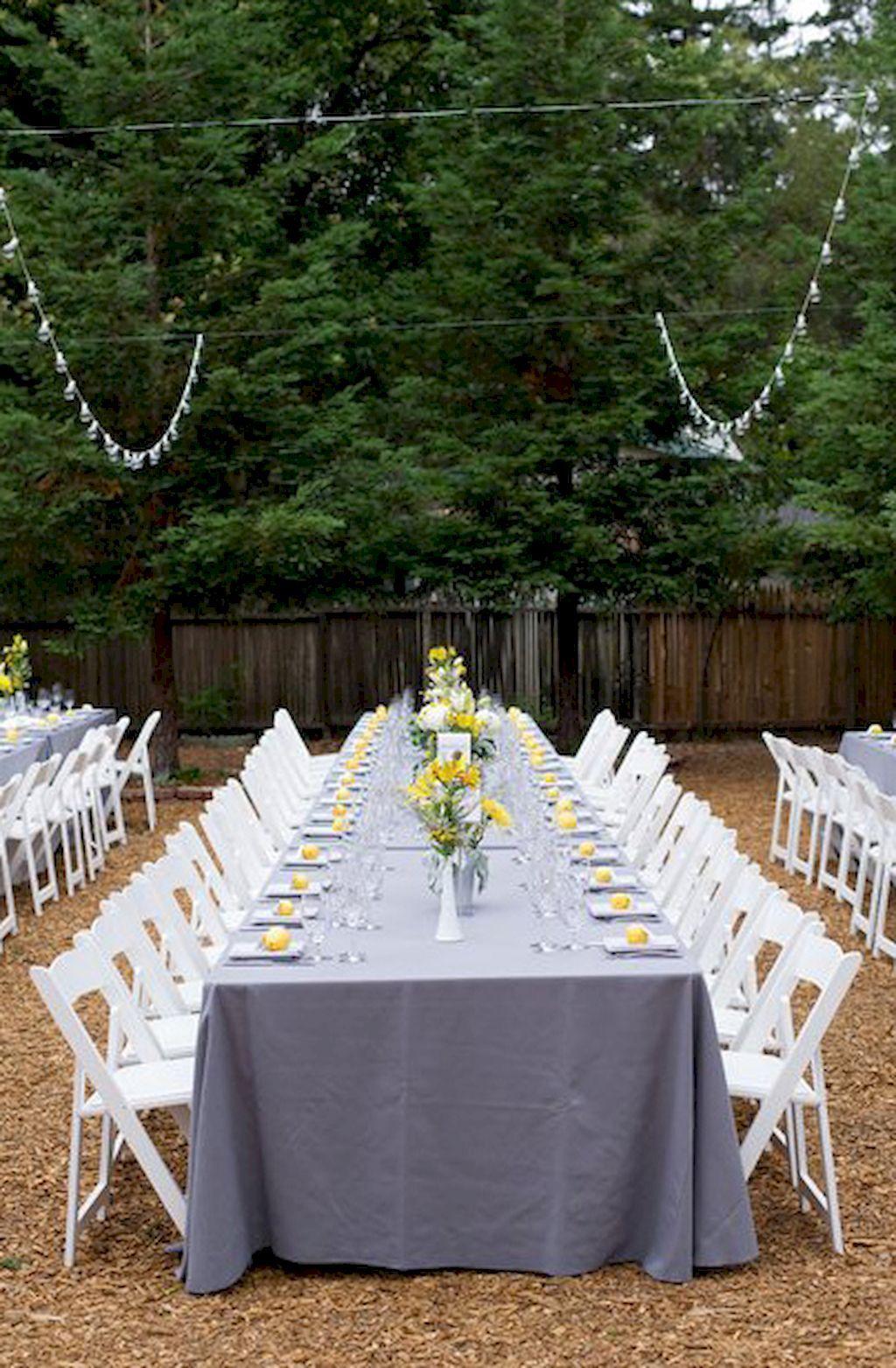 adorable 56 inexpensive backyard wedding decor ideas https