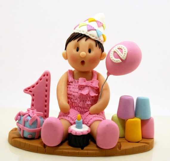 DEPOSIT   Custom First Birthday Cake Topper by missnatch on Etsy
