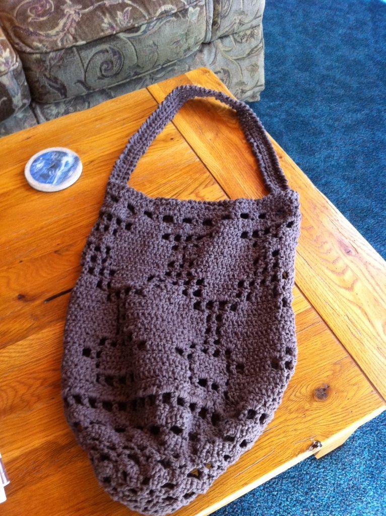 Market Filet Crochet Bag | Crochet Projects | Pinterest | Filet ...