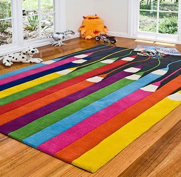 Large Kids Rug Make Your Room Vibrant With Colorful Rugs