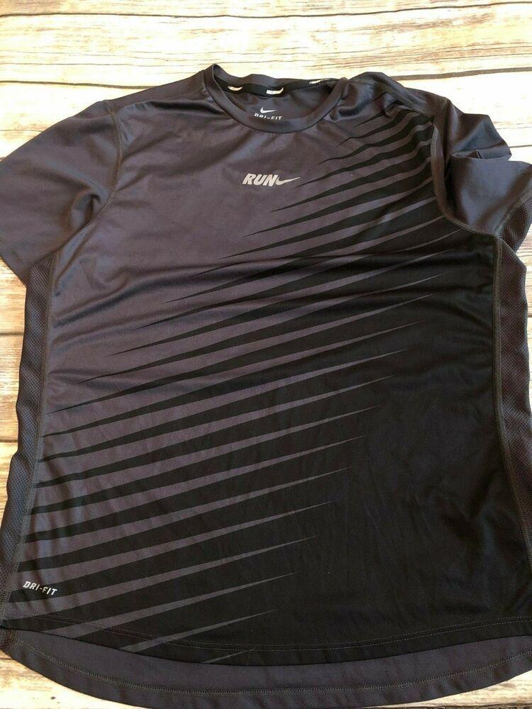 0e6b57dd Nike Dri Fit Men's Medium Short Sleeve Running Shirt Gray #Nike ...