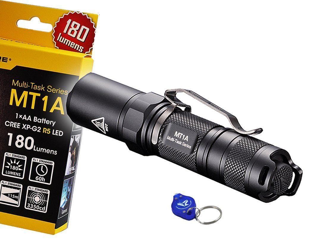 Nitecore Mt1a 180 Lumens Compact Mini Led Flashlight W Clip Bonus Lumen Tactical Keychain Light Use 1 X Aa Battery Th Led Flashlight Flashlight Cree Led