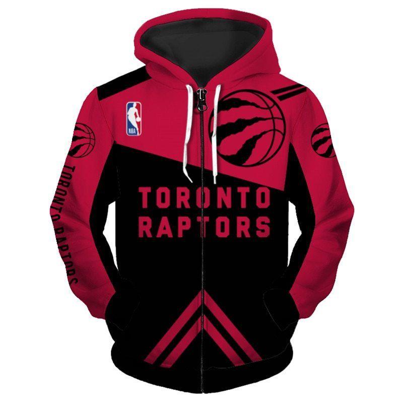 52ab9f71 Lowest Price NBA Hoodie 3D Toronto Raptors Hoodies Sweatshirt Zip Up ...