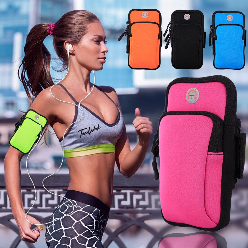 NEW Sport Armband Bag Jogging Run Gym Arm Band Pouch Holder Case For Cell Phone