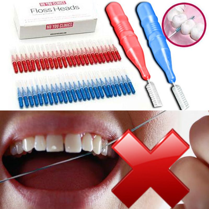 50Pcs Tooth Flossing Head Oral Hygiene Dental Plastic Interdental Brush Toothpick -- BuyinCoins.com
