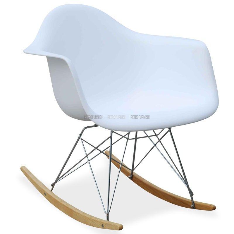 Epingle Par Kristen Clark Sur Modern Dino Nursery Chaise A Bascule Chaise A Bascule Eames Chaises Retro