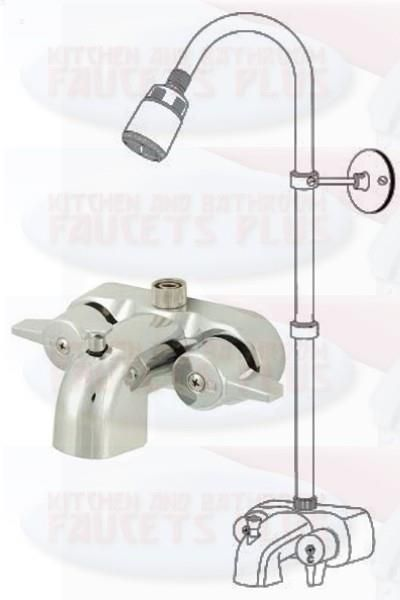 Details About Chrome Bathroom Add A Shower Clawfoot Tub Diverter